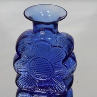 Riihimäen lasi Amuletti maljakko, sininen, suunnittelija Tamara Aladin,