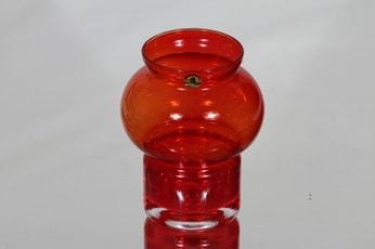 Riihimäen lasi Välkky tuikkulyhty, punainen, suunnittelija Tamara Aladin, pieni