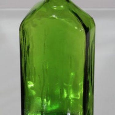 Riihimäen lasi Lankkupullo koristepullo, vihreä, suunnittelija Helena Tynell, suuri