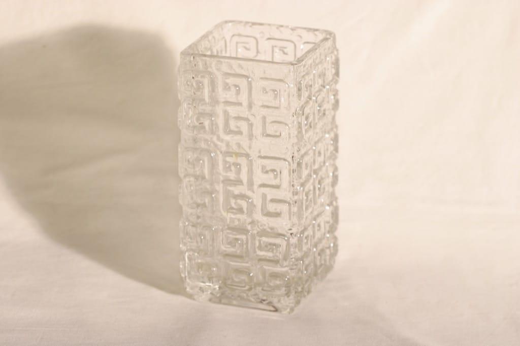 Riihimäen lasi Taalari lasimaljakko, kirkas, suunnittelija Tamara Aladin,