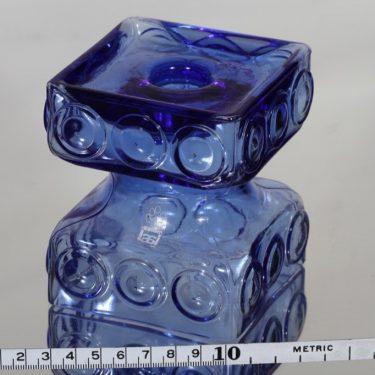 Riihimäen lasi Kehrä kääntömaljakko, sininen, suunnittelija Tamara Aladin,  kuva 2