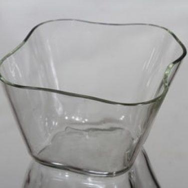 Iittala Aalto-kukka maljakko, kirkas, suunnittelija Alvar Aalto,