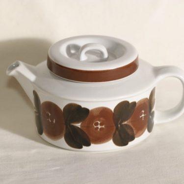 Arabia Rosmarin teekannu, käsinmaalattu, suunnittelija Ulla Procopé, käsinmaalattu