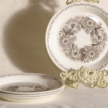 Arabia Elina lautaset, 4 kpl, suunnittelija Esteri Tomula,