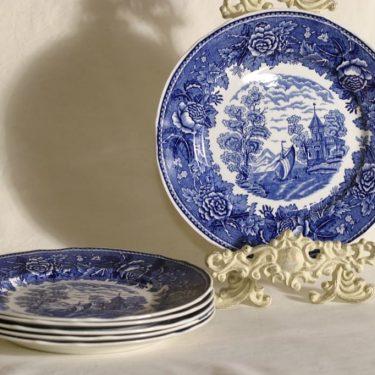 Arabia Maisema lautaset, matala, 6 kpl, suunnittelija , matala, kuparipainokoriste