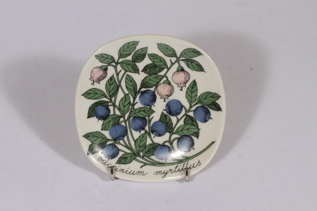 Arabia Botanica koristelautanen, Mustikka, suunnittelija , Mustikka, pieni, serikuva