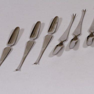 Hackman Scandia hummerihaarukat, teräs, 6 kpl, suunnittelija Kaj Franck, teräs