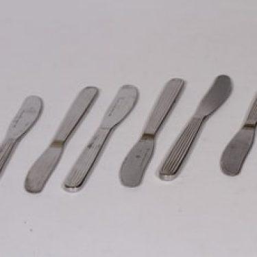 Hackman Scandia veitset, teräs, 6 kpl, suunnittelija Kaj Franck, teräs