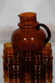 Humppila Talonpoika kaadin ja lasit 8 kpl, ruskea, 8 kpl, suunnittelija ,
