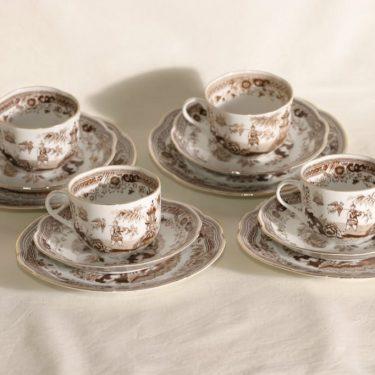 Arabia Singapore kahvikupit, 4 kpl, suunnittelija , kuparipainokoriste