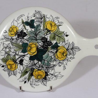 Arabia Ruusu käsipeili, käsinmaalattu, suunnittelija , käsinmaalattu, pieni, signeerattu, kukka-aihe