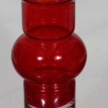 Riihimäen lasi Tuulikki maljakko, punainen, suunnittelija Tamara Aladin,  kuva 2