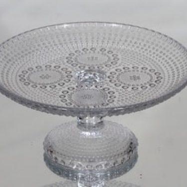 Riihimäen lasi Grapponia vati, kirkas, suunnittelija Nanny Still, jalallinen