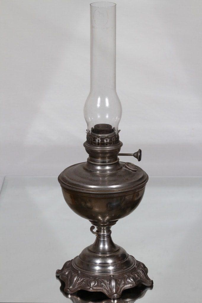 """Riihimäen lasi Salvator 16"""" oljylamppu, kirkas, suunnittelija , metalli"""