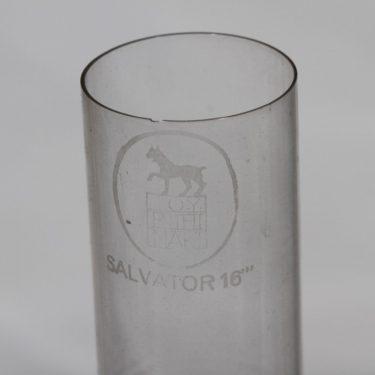 """Riihimäen lasi Salvator 16"""" oljylamppu, kirkas, suunnittelija , metalli kuva 2"""