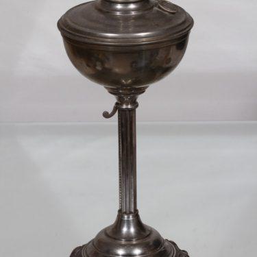 """Riihimäen lasi Salvator 16"""" oljylamppu, kirkas, suunnittelija , metalli kuva 3"""