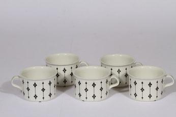 Arabia Kartano teekupit, 5 kpl, suunnittelija , serikuva