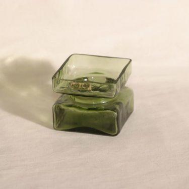 Riihimäen lasi Pala lasimaljakko, vihreä, suunnittelija Helena Tynell,
