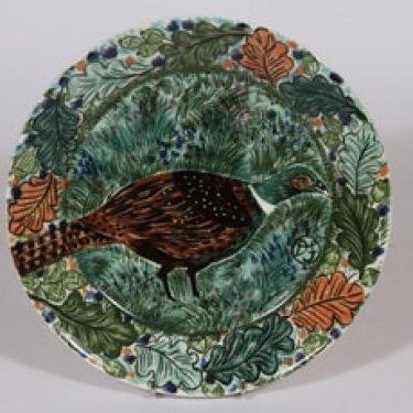 Arabia Pro Arte Hubertus koristelautanen, Fasaani, suunnittelija Dorrit von Fieandt, Fasaani, serikuva, lintuaihe