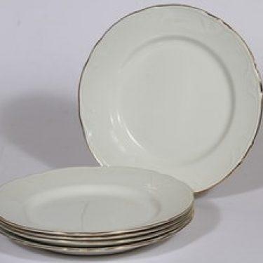 Arabia Siro lautaset, 5 kpl, suunnittelija , kullattu
