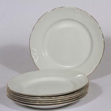 Arabia Siro lautaset, 7 kpl, suunnittelija , kullattu