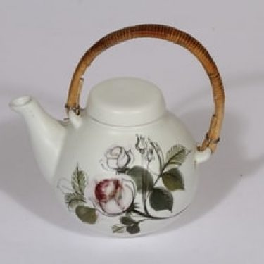 Arabia Kukka teekaadin, käsinmaalattu, suunnittelija , käsinmaalattu, pieni, mattalasite, signeerattu