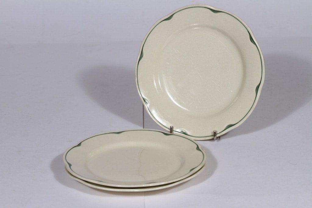 Arabia Pekka lautaset, 3 kpl, suunnittelija , 3 kpl, pieni, raitakoriste
