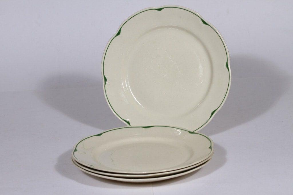 Arabia Pekka lautaset, 4 kpl, suunnittelija , 4 kpl, raitakoriste