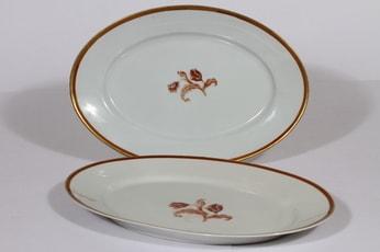 Arabia koriste numero 3314 vadit, 2 kpl, suunnittelija , serikuva, kukka-aihe, kullattu