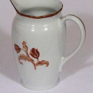 Arabia koriste numero 3314 kaadin, suunnittelija , serikuva, kukka-aihe, kullattu