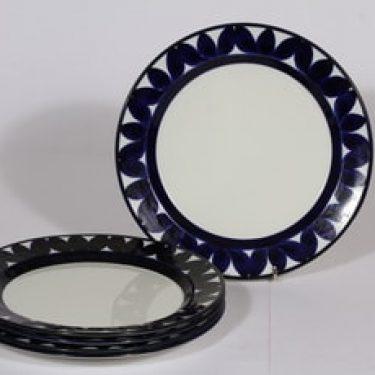 Arabia Sotka lautaset, matala, 5 kpl, suunnittelija , matala, käsinmaalattu