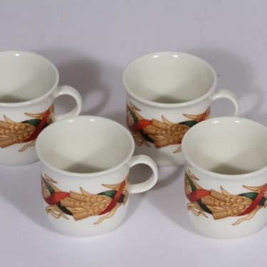Arabia Santa Acrtica mulled wine glasses, 4 pcs, silk screening, Christmas theme