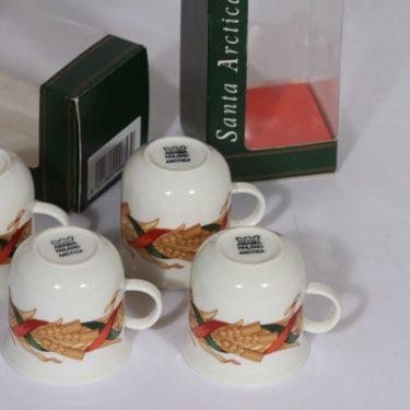 Arabia Santa Acrtica glogimukit, 4 kpl, suunnittelija , serikuva, jouluaihe kuva 2
