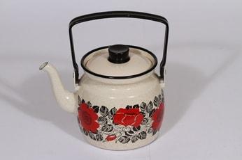 Finel Ruusu kahvipannu, 1 l, suunnittelija Esteri Tomula, 1 l, serikuva, kukka-aihe