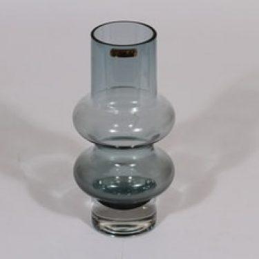 Riihimäen lasi Solmuke maljakko, siniharmaa, suunnittelija Tamara Aladin,