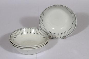 Arabia Heini lautaset, syvä, 4 kpl, suunnittelija , syvä, pieni, kuparipainokoriste