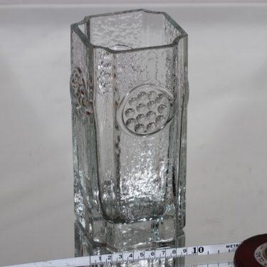 Riihimäen lasi Rondella maljakko, kirkas, suunnittelija Tamara Aladin,  kuva 2