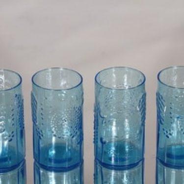 Nuutajärvi Flora lasit, 20 cl, 4 kpl, suunnittelija Oiva Toikka, 20 cl