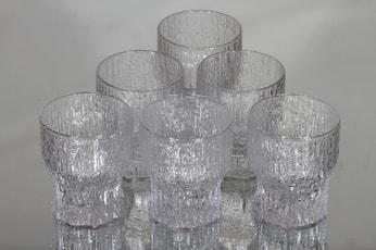 Iittala Aslak lasit, 13 cl, 6 kpl, suunnittelija Tapio Wirkkala, 13 cl