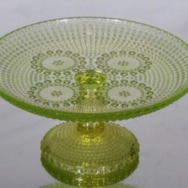 Riihimäen lasi Grapponia vati, jalallinen, suunnittelija Nanny Still, jalallinen