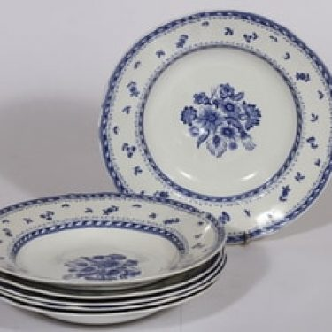 Arabia Suomen kukka lautaset, syvä, 6 kpl, suunnittelija , syvä, kuparipainokoriste