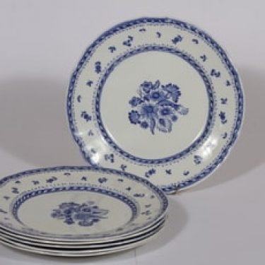 Arabia Suomen kukka lautaset, matala, 6 kpl, suunnittelija , matala, kuparipainokoriste