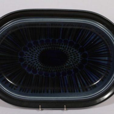 Arabia Kosmos vati, sininen, suunnittelija , soikea, puhalluskoriste, retro