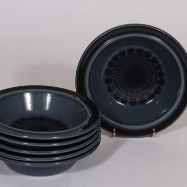Arabia Kosmos lautaset, syvä, 6 kpl, suunnittelija , syvä, puhalluskoriste, retro