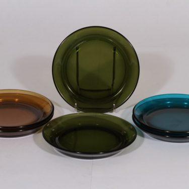 Nuutajärvi lautaset, eri värejä, 6 kpl, suunnittelija Kaj Franck, eri värejä, pieni