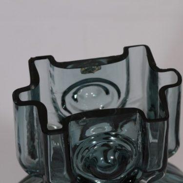 Riihimäen lasi Aitanlukko maljakko, siniharmaa, suunnittelija Helena Tynell,  kuva 2