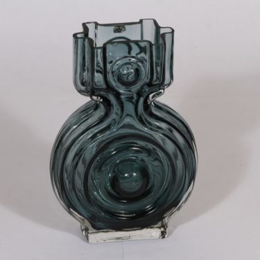 Riihimäen lasi Aitanlukko maljakko, siniharmaa, suunnittelija Helena Tynell,  kuva 3