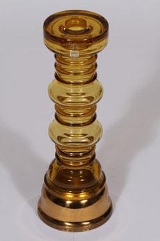 Riihimäen lasi Carmen kynttilänjalka, ruskea, suunnittelija Tamara Aladin,