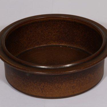 Arabia Ruska vuoka, ruskea lasite, suunnittelija Ulla Procope,