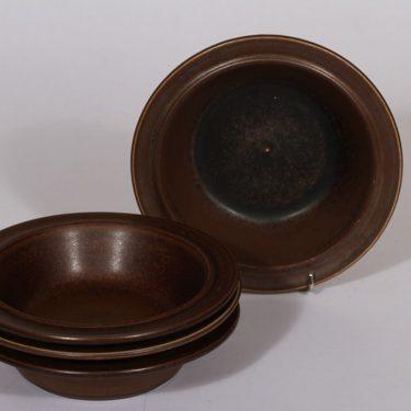 Arabia Ruska annoskulhot, ruskea lasite, 4 kpl, suunnittelija Ulla Procope,